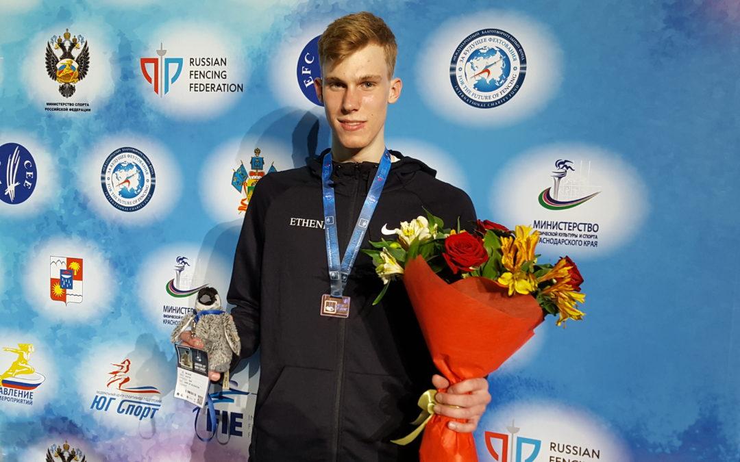 Degenfechter Paul Veltrup gewinnt in Sotchi EM-Bronze