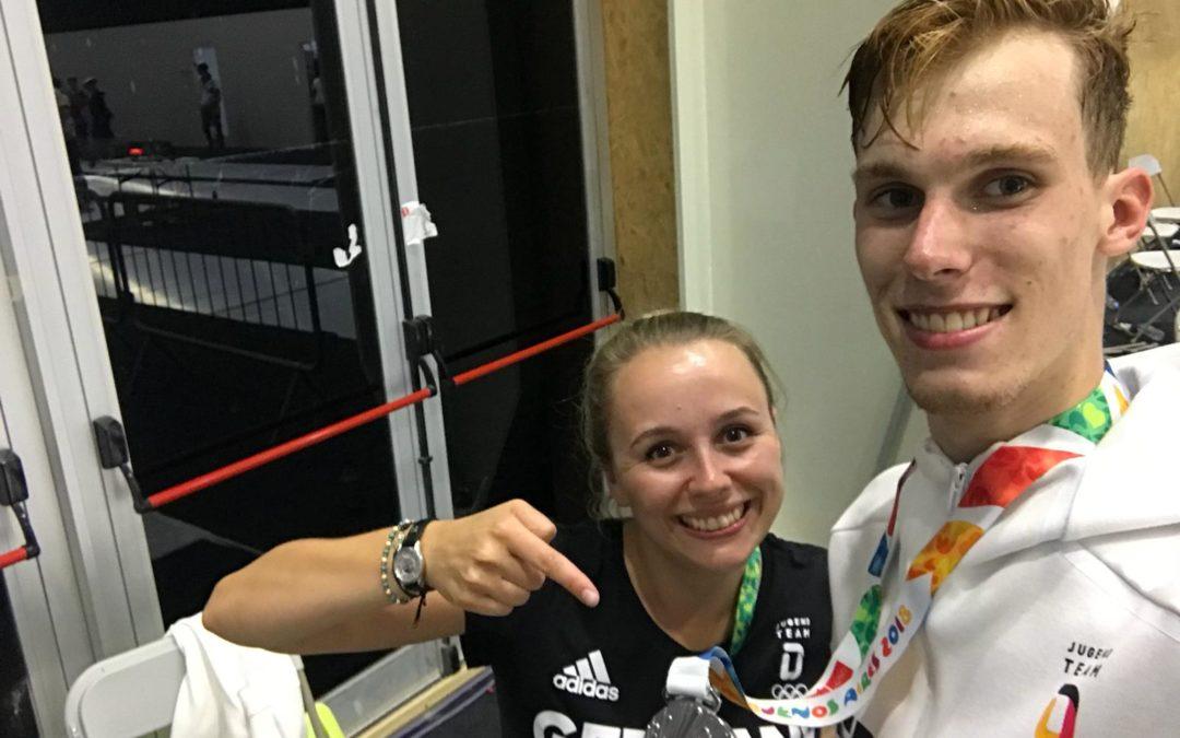 Degenfechter Veltrup erkämpft Silber bei Jugend-Olympia